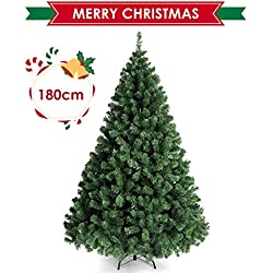 amzdeal Árbol de Navidad - 180 cm Aproximadamente 850 Puntas de Rama Árbol de Navidad Artificial, Incluido Soporte de árbol de Navidad Material ignífugo PVC