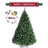 amzdeal Weihnachtsbaum - 180 cm ca. 850 Astspitzen Künstlicher Weihnachtsbaum, inklusive Christbaumständer Hochwertig mit schwer entflammbarem Material PVC, grün