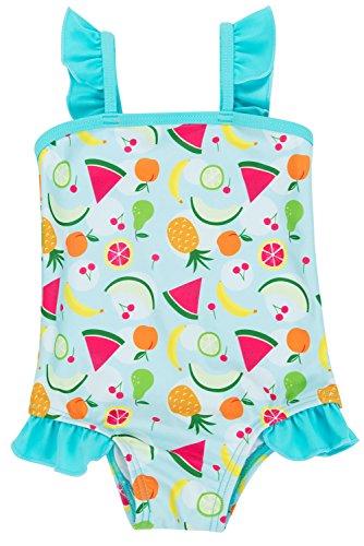 ALove Baby Mädchen Süß Badeanzug Mit Rüschen Wassermelone Print Blau 3-6 Monate