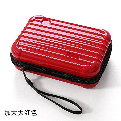 LULAN Travel Make-up Make-up Mini Hard Case Wasserdichte zugeben Patrone Paket Version von, 21 * 13 * 7 cm, Chinesischen Roten (Chinesische Rote Pakete)