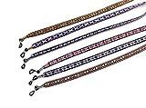 Sin marca 6 Stück Brillenkordel, flach, ethnisch Bedruckt