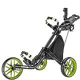 Caddytek facile pliage chariot de golf 3 roues-et avec le sac d'entreposage, citron vert