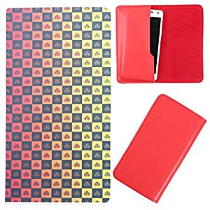 DooDa - For iBall Andi4F ARC3 PU Leather Designer Fashionable Fancy Case Cover Pouch With Smooth Inner Velvet