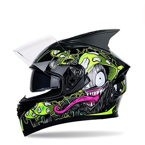 Casco motocicleta Hombres mujeres Cubierta casco integral
