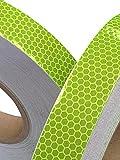 Tuqiang® Hoch Intensives Limette Reflektierendes Klebeband 25mm x 2.5m 1PC