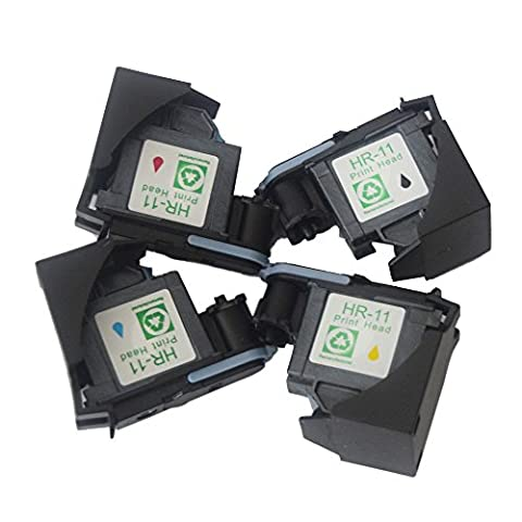 Karl Aiken 4x Remanufactured Print Head for HP 11 C4810A C4811A C4812A C4813A Printhead for use with HP Business Inkjet 2200, 2250, 2280, 2600, 2800 HP Designjet 110nr, Designjet 10ps, 20ps, 50ps, 500 800