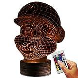 Stuff4Players Super Mario Dekolampe Mario Kopf (3D-Hologramm Illusion)