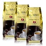 3 x Cafe club super crema svizzero Schümli caffè fagioli 1 kg per caffè completamente automatiche