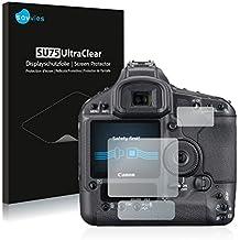 Savvies Protector de Pantalla para Canon EOS 1Ds Mark III Película Protectora - Screen Protector 6 Unidades