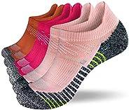 Fioboc Sneakersokken voor heren en dames, 6 paar hardlopen, korte sportsokken, lage sneakers, compressiesokken