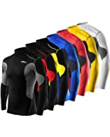 Mens & Boys TCA SuperThermal Compression Base Layer Top Long Sleeve Thermal Under Shirt - Mock Neck
