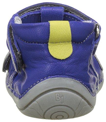 babybotte Baby Jungen Zine Krabbelschuhe Bleu (Bleu/Anis)