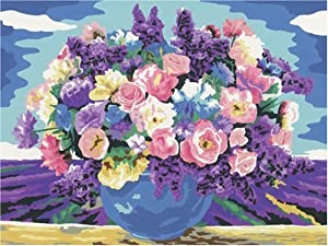 Ravensburger 28812  - Paint by Numbers, Saludos Florales, 30x24 cm