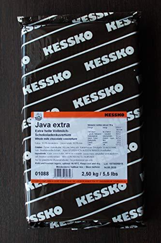 Vollmilch-Schokoladen-Kuvertüre 2,5 kg Java Extra Block von Kessko