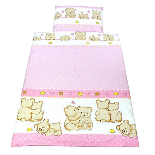 Bettwäsche Rosa Mädchen Set (TupTam Kinderbettwäsche Set Baumwolle 2 teilig, Farbe: Bärchen Freunde Rosa, Größe: 135x100 cm)