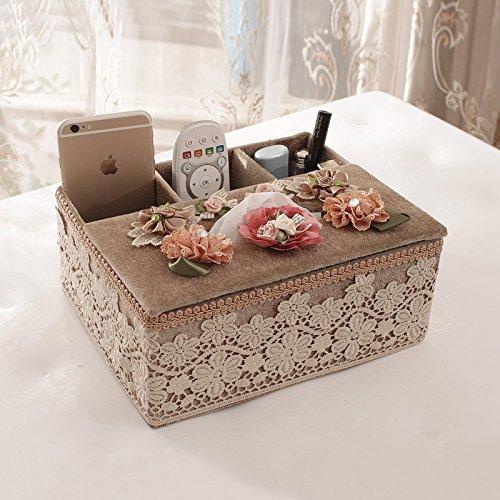 XFF Papier Box Multifunktions Tuch Tissue-Box Hause Wohnzimmer Fernbedienung Aufbewahrungsbox europäischen Fach,D,cm Europäische Fach