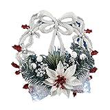 lzn Weihnachten Kranz Wand Anhänger Weihnachtsbaum Kunststoff Blume Blätter Knoten Anhänger Dekoration