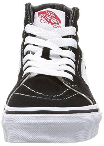 Vans K Sk8-hi, Unisex-Kinder Hohe Sneakers Schwarz (black/true White)