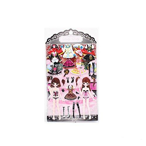 Anzieh-Sticker mit Mädchen in Kleidern für Halloween oder (Mit Matrose Kostüm Stiefel)
