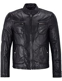 Smart Range Men's Biker Style 'Star Trek' Black Motorcycle Soft Real Nappa Lambskin Leather Jacket
