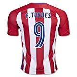 2016 2017 Atletico Madrid 9 Fernando Torres Home Football Soccer Jersey In Red