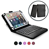 Custodia Google Nexus 7 Cellular Tastiera, Cover Tastiera Cooper Infinite Executive 2-in-1 Bluetooth Wireless Magnetica Protettiva Tablet Pelle A Libro Viaggio con Supporto (Nero)
