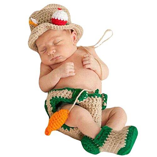 renes Baby Fischer Figur Foto Kostüm Fotografie Prop Handarbeit Bekleidungsset Fotoshooting Stricken Tiere Kostüm Baby Junge Trikot Foto Outfits Requisiten Für 3-4 Monate (Tier-kostüme Für Babies)