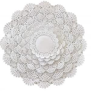 The Baker Celebrations tavolo rotondo carta-filtro Deckchen varie dimensioni; tovagliette di carta per la tavola decorativo 120 4 5 6 8 10 12 bianca