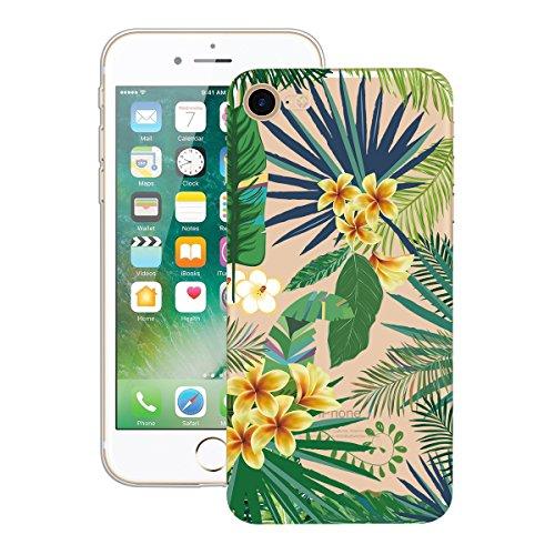 Yokata iPhone 7 Plus Hülle Soft Flexible Silikon Crystal Clear Transparent Bumper Ultra Dünn Schlank Handyhülle Premium Kratzfest TPU Durchsichtige Schutzhülle für iPhone 7 Plus (5,5 Zoll) Case Cover  Tropischen