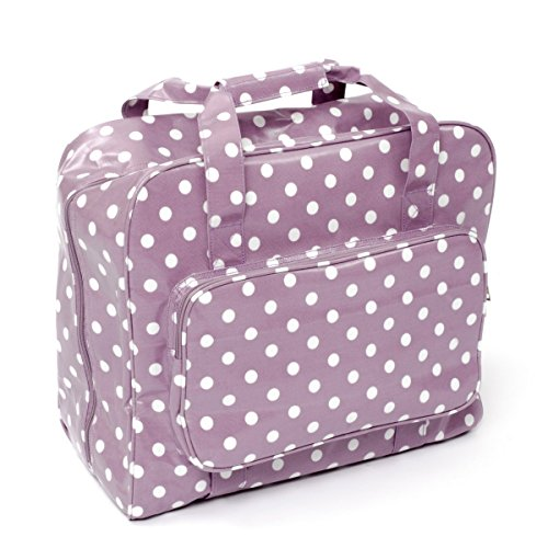 HobbyGift MR4660/121 | PVC Sewing Machine Bag Mauve Spot by Hobbygift