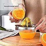 Spremiagrumi al limone e arancia, spremiagrumi manuale in acciaio inox con spremiagrumi in silicone per una facile spremitura di limoni Limes Arance