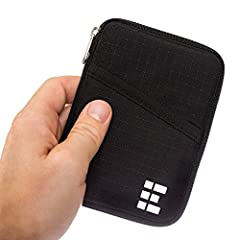 Idea Regalo - Custodia Porta Passaporto - Portafoglio da Viaggio con Blocco RFID - Zero Grid