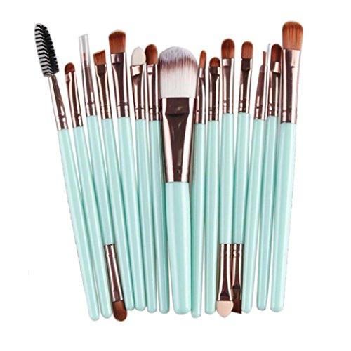 Fortan 15pcs Make-up-Pinsel-Set Werkzeuge Wolle Make-up Körperpflege -Set