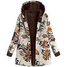 Abrigo Mujer Invierno Rebajas EUZeo Impreso más Grueso Chaqueta Suéter  Abrigo Jersey Mujeres Talla Grande Suelto 7c9fd965d144