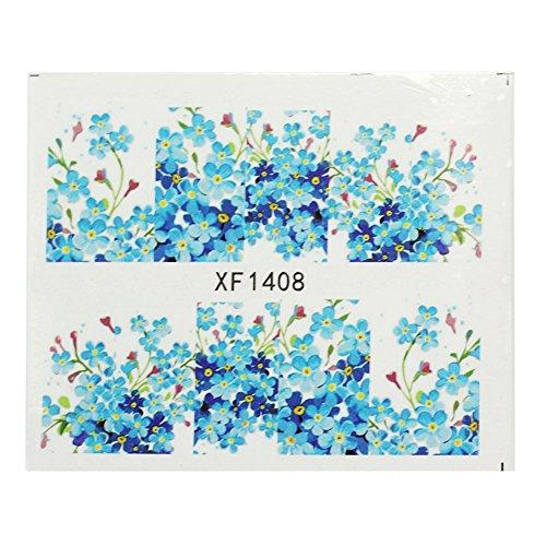 Floral Nail Art Tips Fleur Stickers Autocollant DIY Décoration Manucure Beauté