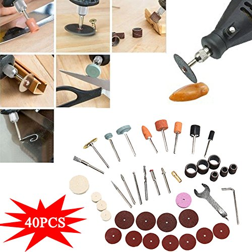40Stück/Set Elektrische Grinder Teile Hardware Tools Schleifen Polieren Zubehör