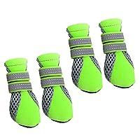 4 x Bottes Hydrofuge Anti-dérapant Chaussures Chaussette Protection pour Animaux Chiot Chien