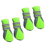 #3: Phenovo Pet Dog Boots Water Repellent Anti-Slip Protective Boots Shoes XS-XL - green, XL
