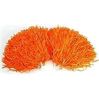 2uds Animadora Pompones Danza Decoración Accesorios para Fiestas Pompones Deportivos ( Color : Naranja )