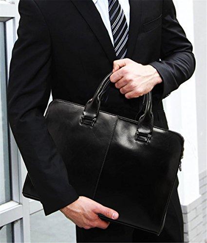 Xinmaoyuan uomini borsette Pu multifunzione Business Borsa a tracolla Borsa uomo borsetta,Nero Nero