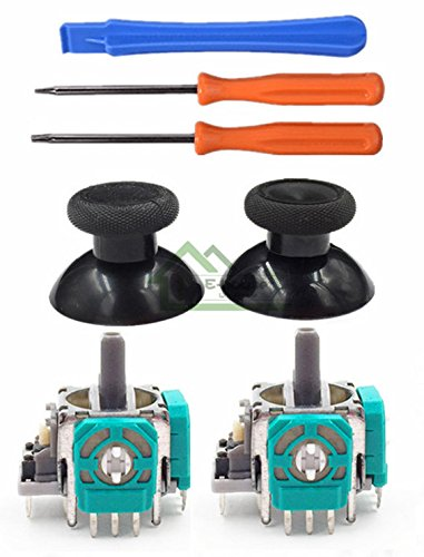 Generic For Xbox One Controller 3D Analog Joysticks Replacement With Thumbsticks Cap Torx T8 T6 Screwdrivers Repair Tool For Xbox 1