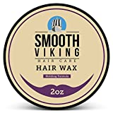 Hair Wax for Men - Best Hair Styling Formula for Modern Styling - Workable & Pliable Product for Added Texture & Shine - Works on All Hair Types, Styles & Lengths - 2 OZ - Smooth Viking