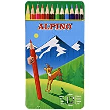 Alpino AL000754 - Set de 12 lápices de colores diferentes