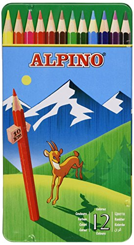 Alpino AL000754 – Set de 12 lápices de colores diferentes