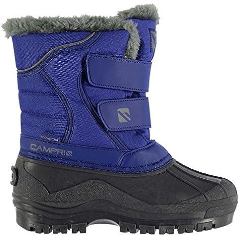 Campri Ninos Infantiles Nieve Botas Toque Cerrar Piel Suave Invierno Zapatos