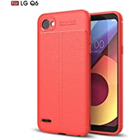 Shinyzone Weich TPU Silikon Zurück Hülle für LG Q6,Ultra Dünn Flexibel [Rot] Litschi Textur Muster Anti-Rutsch... preisvergleich bei billige-tabletten.eu
