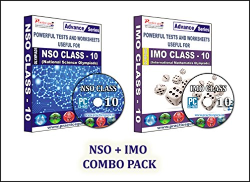 Sure shot question bank - 50 Tests (IMO) & 50 Tests (NSO) - Class 10 Olympiads (Set of 2 CDs) + Previous year questions to practice & Printable worksheets.  available at amazon for Rs.990