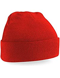 Beechfield Knitted Hat, Bright Red, One Size one size,Bright Red