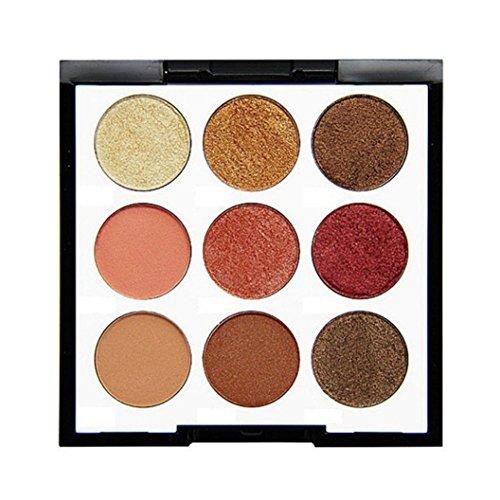 Lidschatten-Palette,Challeng Schimmern Perle Funkeln Bilden Pulver Kosmetik Matt Makeup Augenschatten Palette/9 Farben (B)