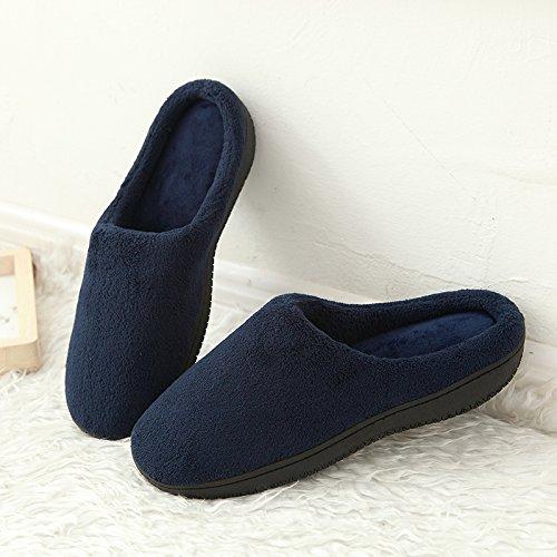 Fankou Classico inverno semplice semplice corallo color cashmere spugna di memoria home pantofole giovane modelli casa calda panno di cotone Lila